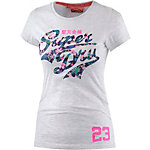 Superdry Printshirt Damen hellgrau