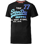 Superdry Printshirt Herren schwarz