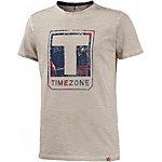 TIMEZONE Printshirt Herren beige melange