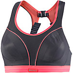 Shock Absorber RUN Sport-BH Damen grau/koralle