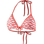 Seafolly Tidal Wave Bikini Oberteil Damen nektarine/weiß