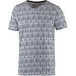 GARCIA Printshirt Herren weiß/blau