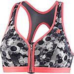 Shock Absorber Active Front Zip Sport-BH Damen grau/koralle