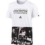 adidas ADI AOP T-Shirt Herren weiß