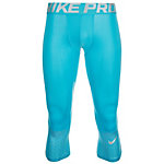 Nike Pro Hypercool Max Three-Quarter Tights Herren hellblau / silber