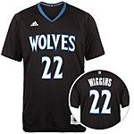 adidas Minnesota Timberwolves Wiggins Swingman Basketball Trikot Herren schwarz / blau