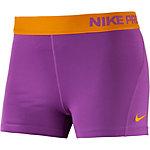 Nike Pro Dry Fit 3'' Tights Damen lila/orange