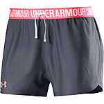 Under Armour Play Up Funktionsshorts Damen grau/neonkoralle