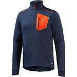 Salomon Trail Runner Winter Funktionsshirt Herren blau/orange