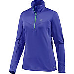 Salomon Trail Runner Winter Laufshirt Damen lilablau