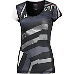 Reebok One Series Kompressionsshirt Damen schwarz/grau