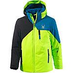 Spyder Skijacke Jungen hellgrün/blau/schwarz