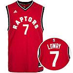 adidas Toronto Raptors Lowry Replica Basketball Trikot Herren rot / schwarz / grau