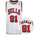 adidas Chicago Bulls Rodman Swingman Basketball Trikot Herren weiß / rot / schwarz