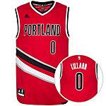 adidas Portland Trail Blazers Lillard Replica Basketball Trikot Herren rot / schwarz / weiß