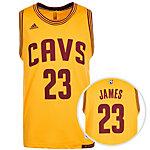 adidas Cleveland Cavaliers James Swingman Basketball Trikot Herren gelb / bordeaux