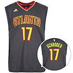 adidas Atlanta Hawks Schröder Replica Basketball Trikot Herren grau / hellgrün