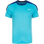 Nike Team Court Crew Tennisshirt Herren mint / dunkelblau