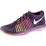 Nike Free Transform Flyknit Fitnessschuhe Damen lila/weiß
