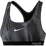 Nike Pro Classic Sport-BH Damen schwarz/dunkelgrau