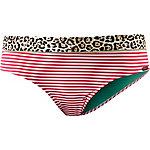 watercult Nautic Leo Bikini Hose Damen rot/weiß/braun