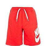 Nike French Terry Alumni Shorts Kinder rot / weiß