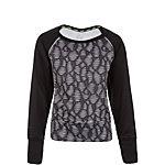 Nike Epic Flash Crew Fleece Funktionsshirt Mädchen schwarz / weiß / grau
