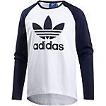 adidas Langarmshirt Herren weiß/dunkelblau