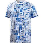 adidas T-Shirt Herren weiß/royal