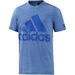 adidas Basic Logo Funktionsshirt Herren blau