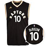 adidas Toronto Raptors DeRozan Replica Basketball Trikot Herren schwarz / gold / weiß
