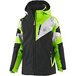 Spyder Skijacke Jungen schwarz/grün/grau