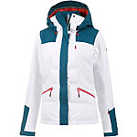 Roxy Flicker Biotherm Snowboardjacke Damen weiß/petrolblau