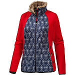 White Season Fleecejacke Damen rot/blau/allover