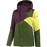 Zimtstern Zarin Snowboardjacke Damen oliv/lila/gelb