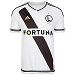 adidas KP Legia Warschau Home Fußballtrikot Herren weiß / schwarz