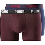 PUMA Boxer Herren bordeaux/dunkelblau