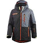 CMP Skijacke Jungen schwarz/orange/grau