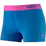 Nike Pro Dry Fit 3'' Tights Damen blau/neonpink