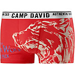 CAMP DAVID Boxer Herren rot/weiß
