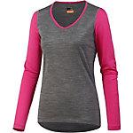 Icebreaker Oasis Langarmshirt Damen grau/pink