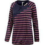 Ragwear Linny Organic Langarmshirt Damen dunkelblau/rot