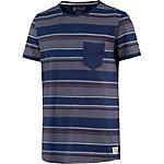 TOM TAILOR T-Shirt Herren blau/grau/braun