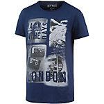 TOM TAILOR T-Shirt Herren blau