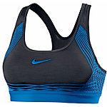 Nike Pro Hyper Classic Sport-BH Damen schwarz/blau