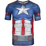 Under Armour HeatGear Captain America Suit Kompressionsshirt Herren blau / rot / grau