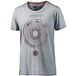 Mavi T-Shirt Herren grau/bordeaux