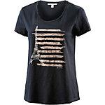TOM TAILOR T-Shirt Damen dunkelblau/rosa