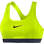 Nike Pro Classic Sport-BH Damen neongelb/schwarz