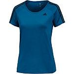 adidas Funktionsshirt Damen blau/schwarz
